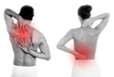 Cura di principi di dolore in un dorso